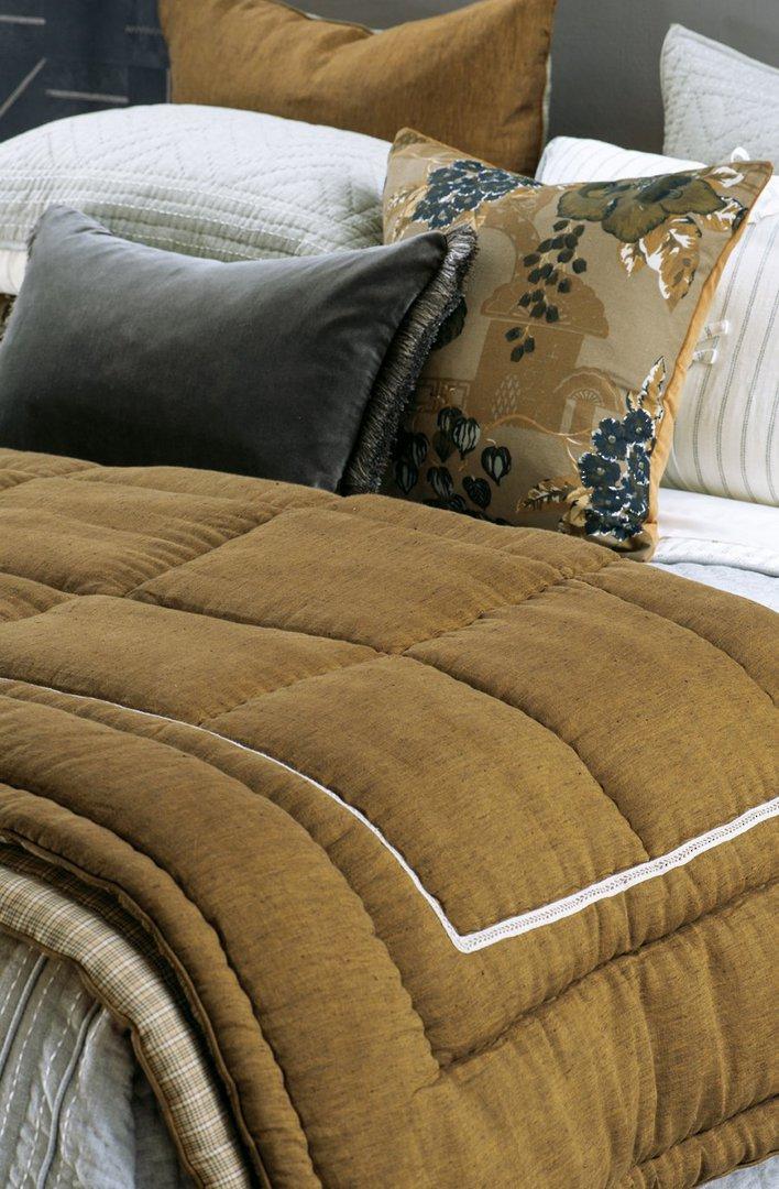 Bianca Lorenne - Luchesi Comforter/ Eurocase /Cushion - Dark Ochre image 0