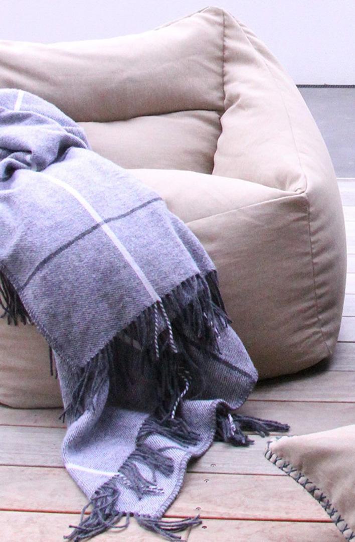 MM Linen - Kalo Natural Outdoor Bean Chair - Unfilled image 1