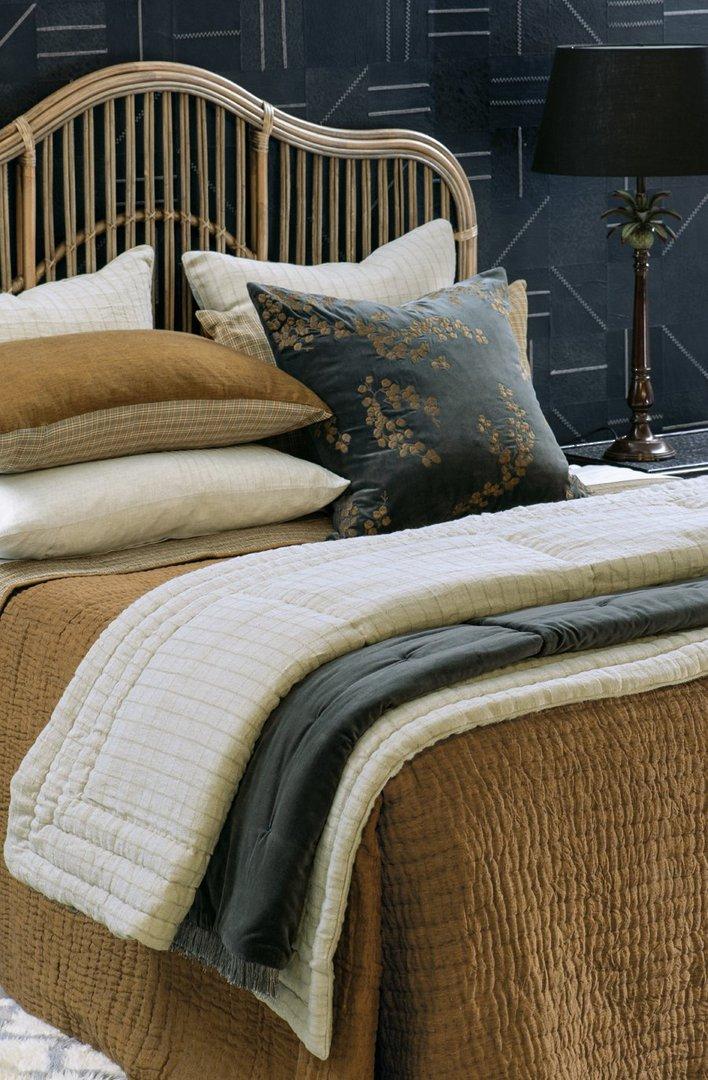 Bianca Lorenne - Misaka- Bedspread - Pillowcase and Eurocase Sold Separately - Dark Ochre image 2