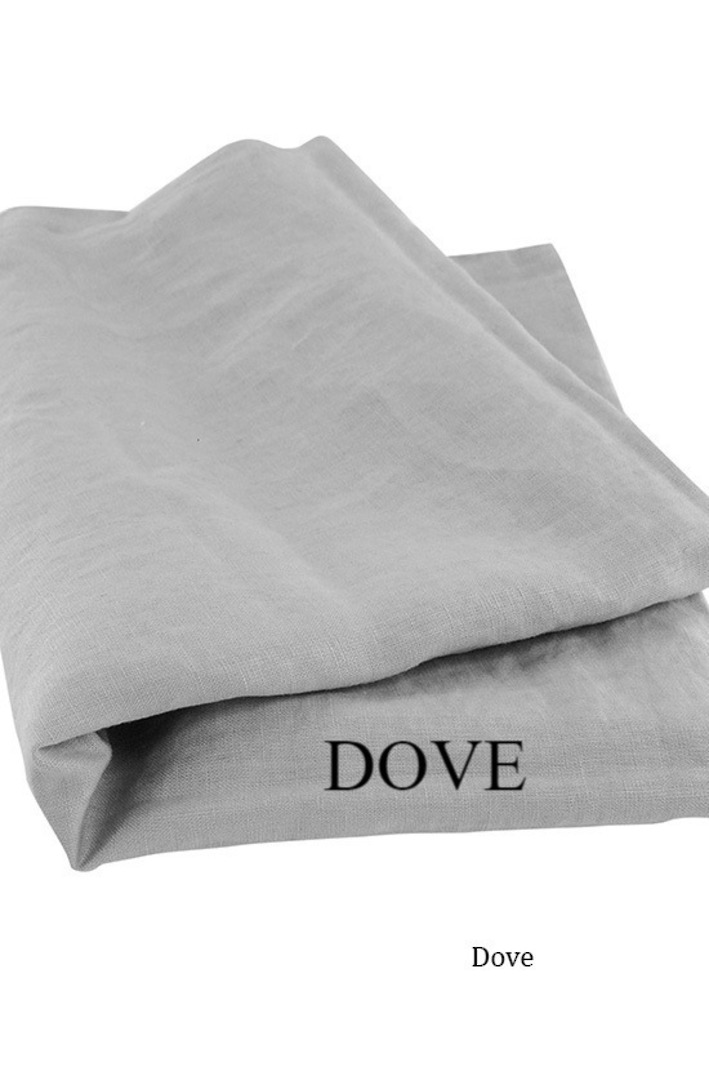 Seneca - Vida Linen Sheets / Pillowcases - Dove image 0