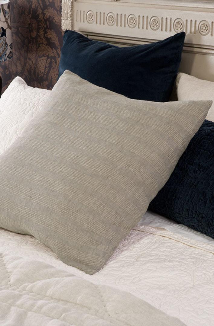 Bianca Lorenne - Tessere Pillowcase/Eurocase - Taupe Stripe image 0