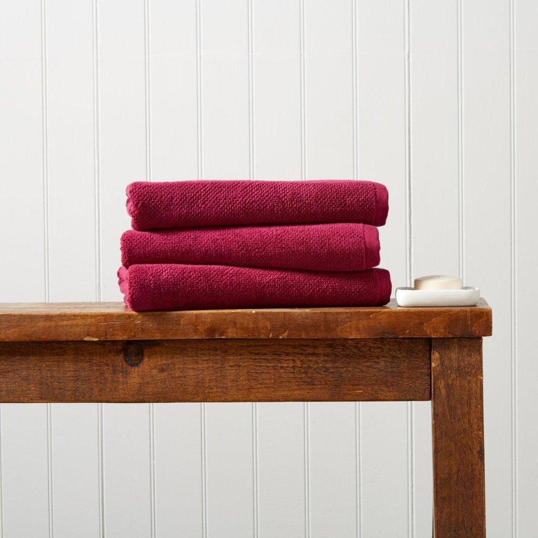 Seneca - Christy Brixton Towels, Hand Towels, Bath Mats -  Magenta image 0