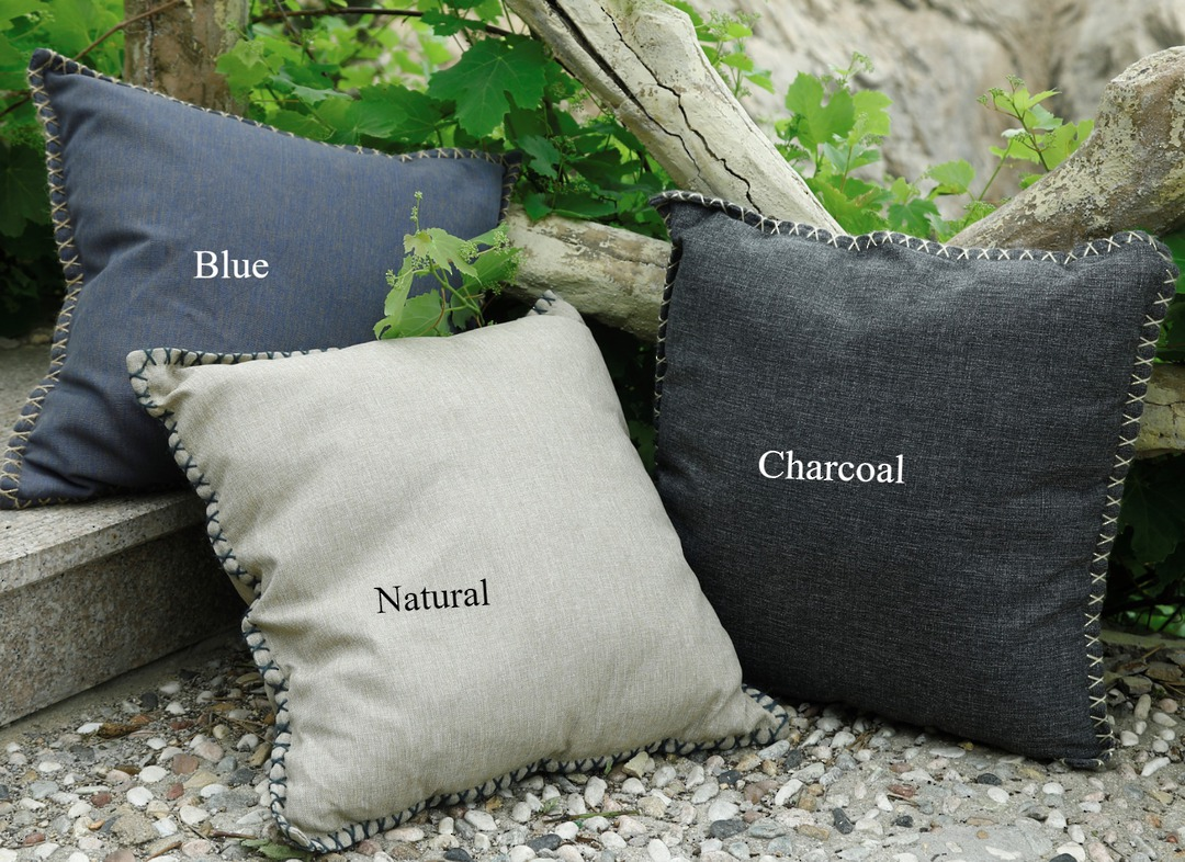 MM Linen - Kalo Outdoor Cushion -  Blue image 0