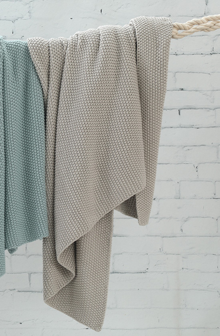 MM Linen -  Bronte Cotton Throw - Putty image 0