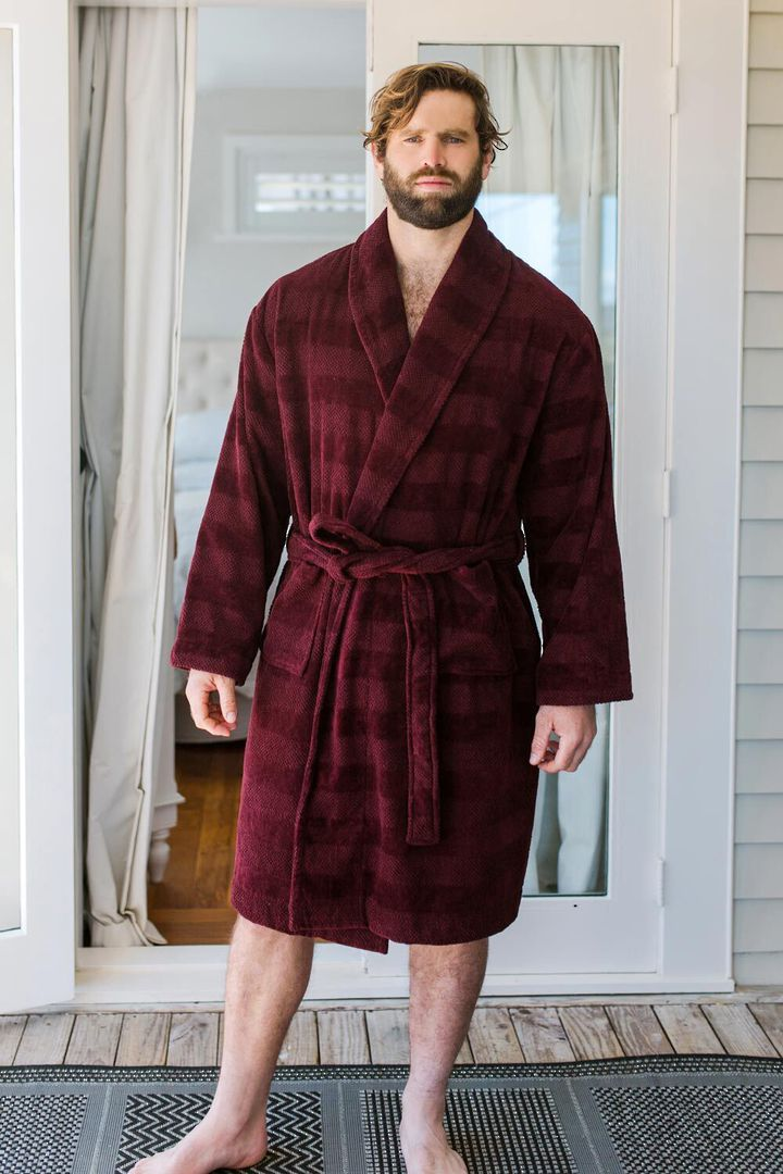 Baksana - Aiden Bathrobe - Port (Burgundy) image 0