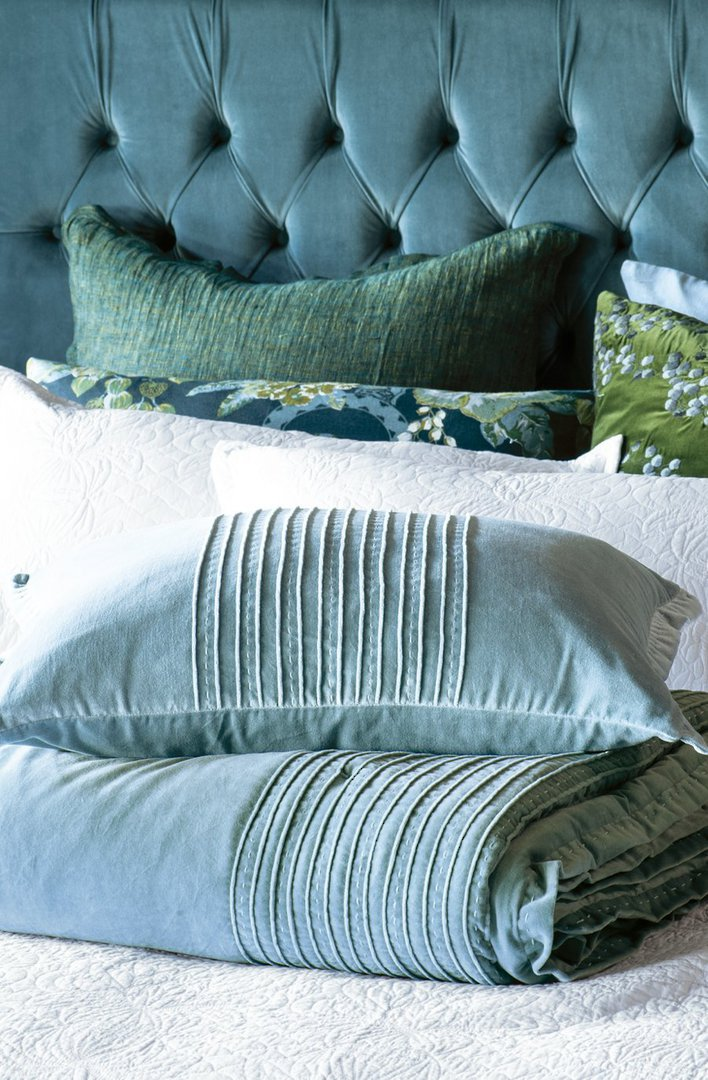 Bianca Lorenne - Piega - Comforter / Pillowcase/Eurocase/Cushion - Smoke Blue image 0