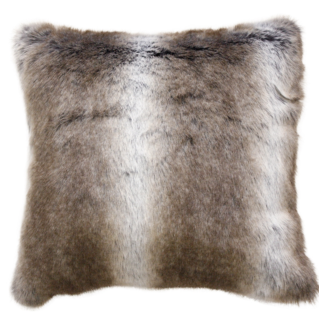 Heirloom Exotic Faux Fur Cushion / Throw - Striped Elk image 2
