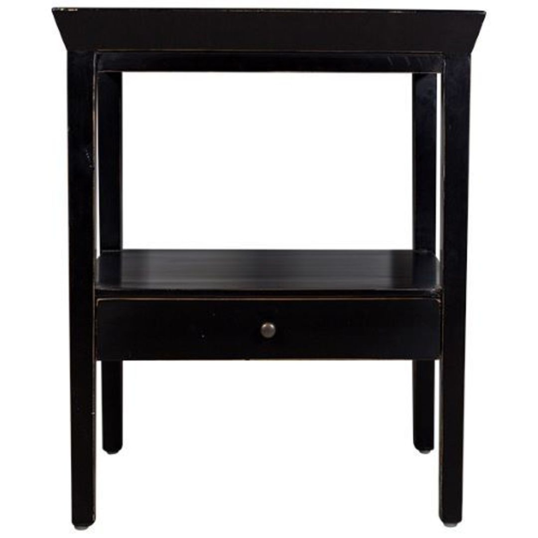 French Country - Santiago Bedside Table - Black image 0