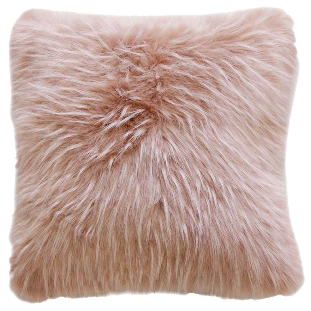 Heirloom Exotic Faux Fur Cushion / Throw - Peony Plume image 2