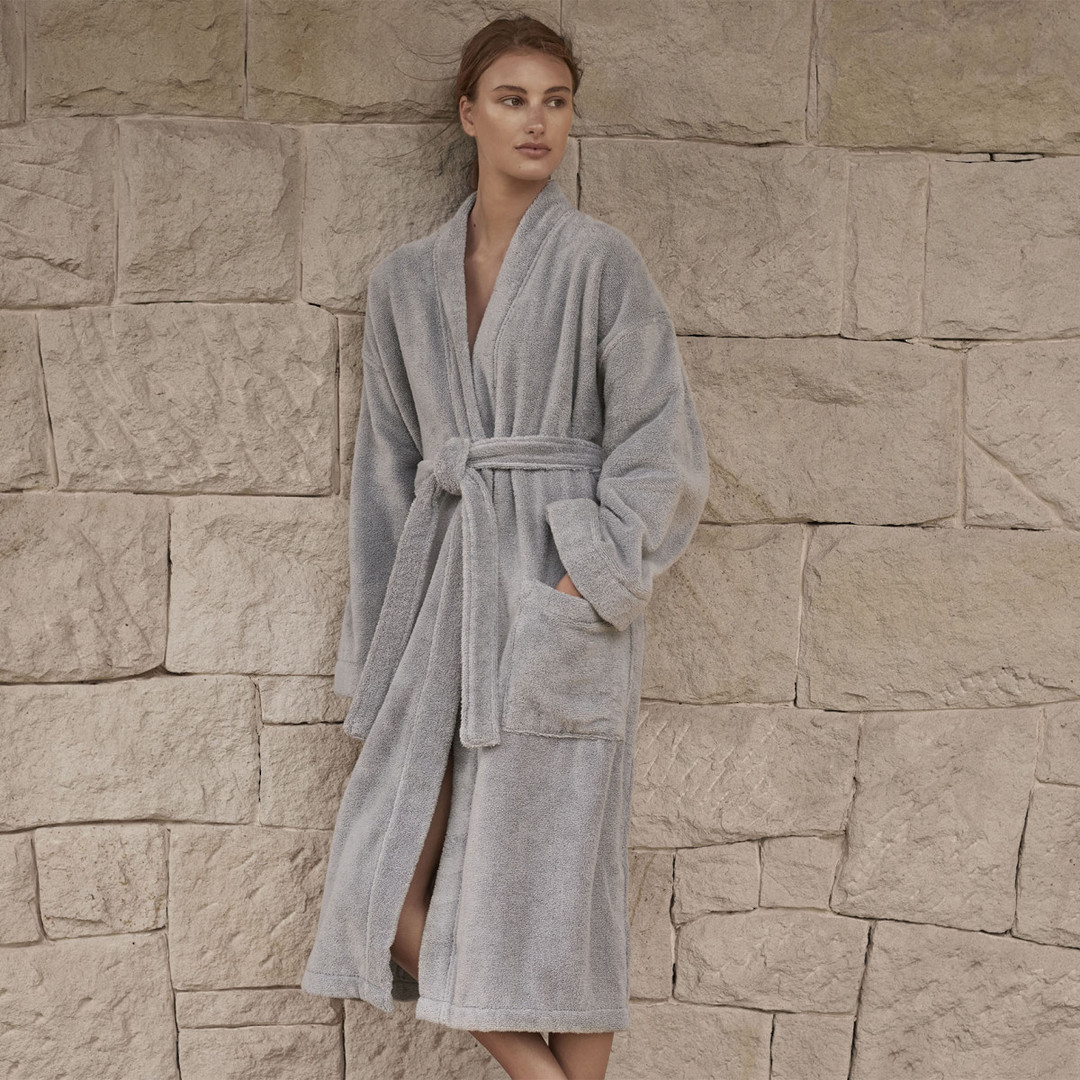 Sheridan - Quick Dry Luxury Unisex Robe - Sterling image 0