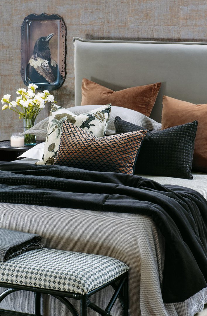 Bianca Lorenne - Petalo Comforter/ Eurocase /Cushion - Black image 0