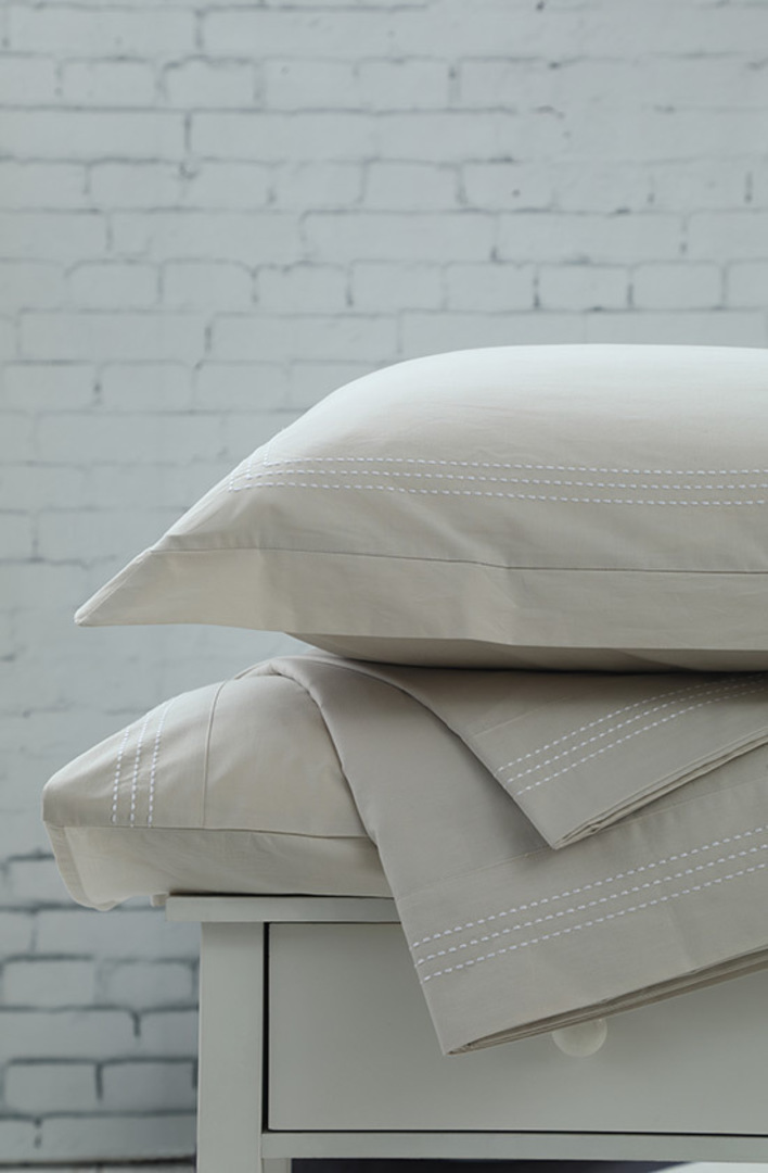 MM Linen - Cove Natural Sheet Set / Eurocases / Pillowcases image 0