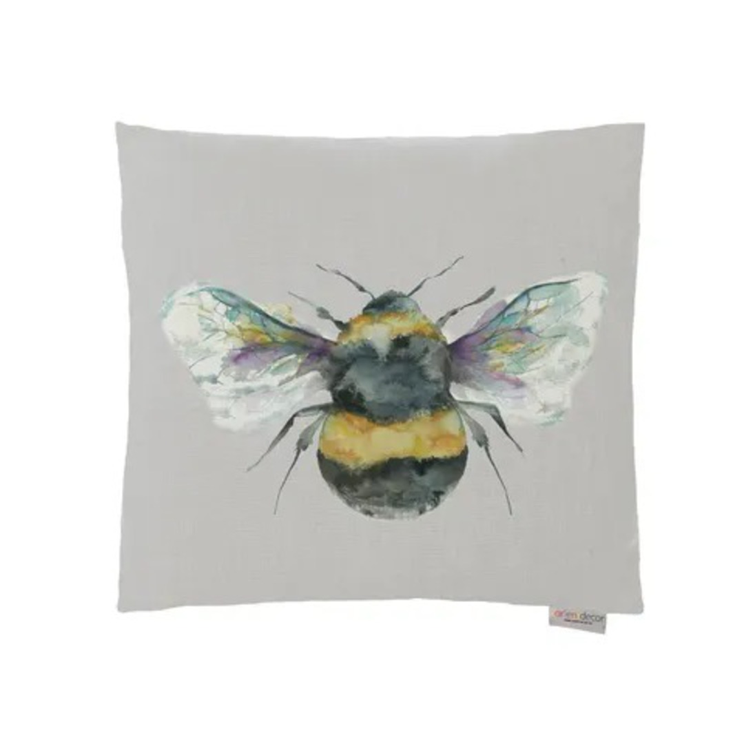 Voyage Maison - Bee Cushions - Duckegg/ Linen/Silver/Slate image 2