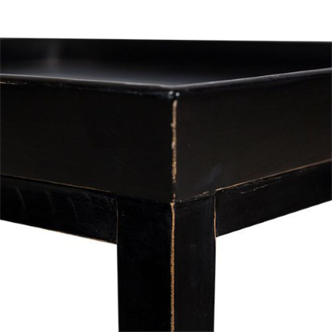 French Country - Santiago Bedside Table - Black image 2