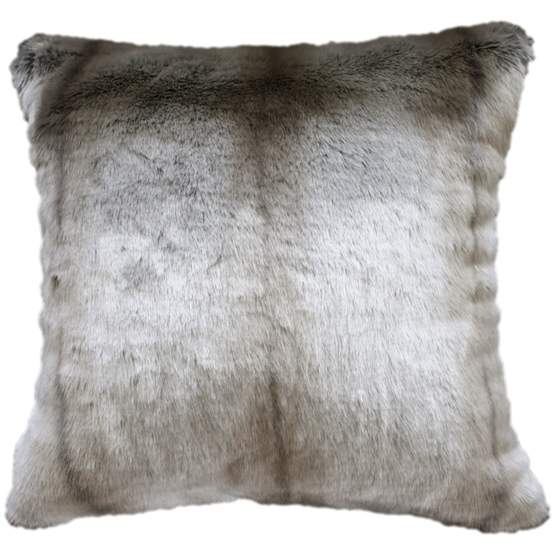 Heirloom Exotic Faux Fur Cushion / Throw  -  Silver Marten image 2