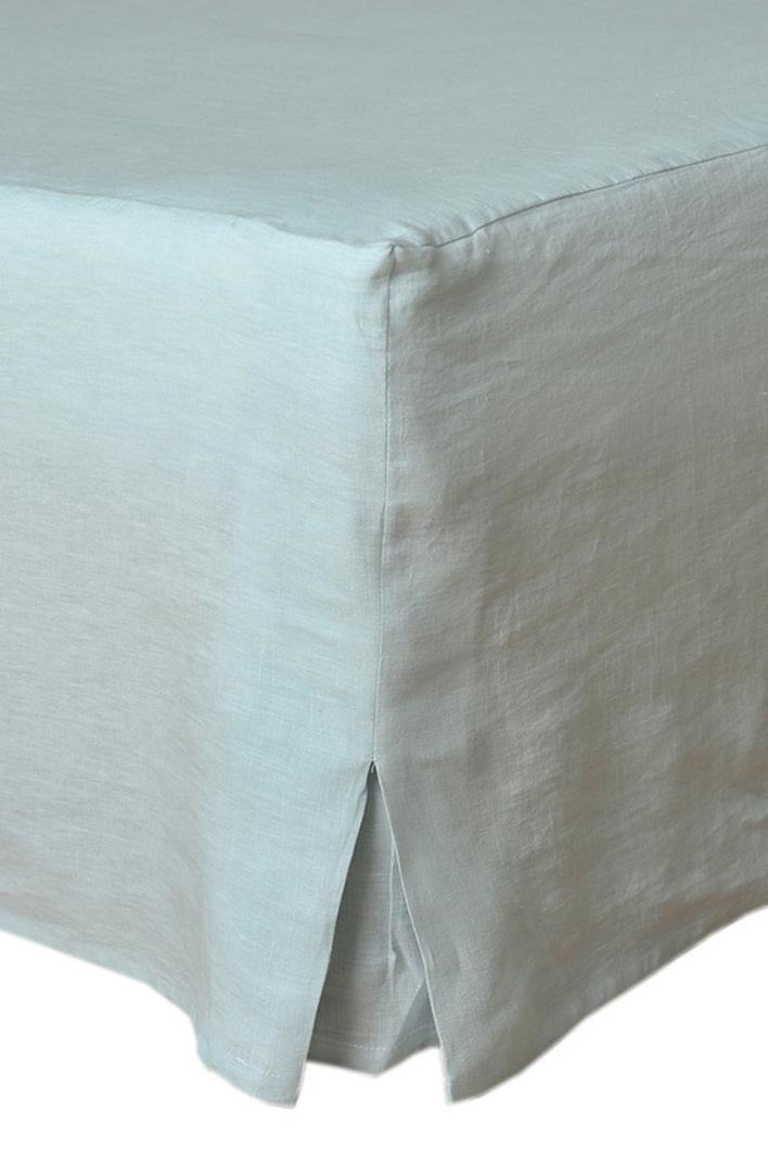 MM Linen - Laundered Linen - Bed Skirt/Valance - Duckegg image 0