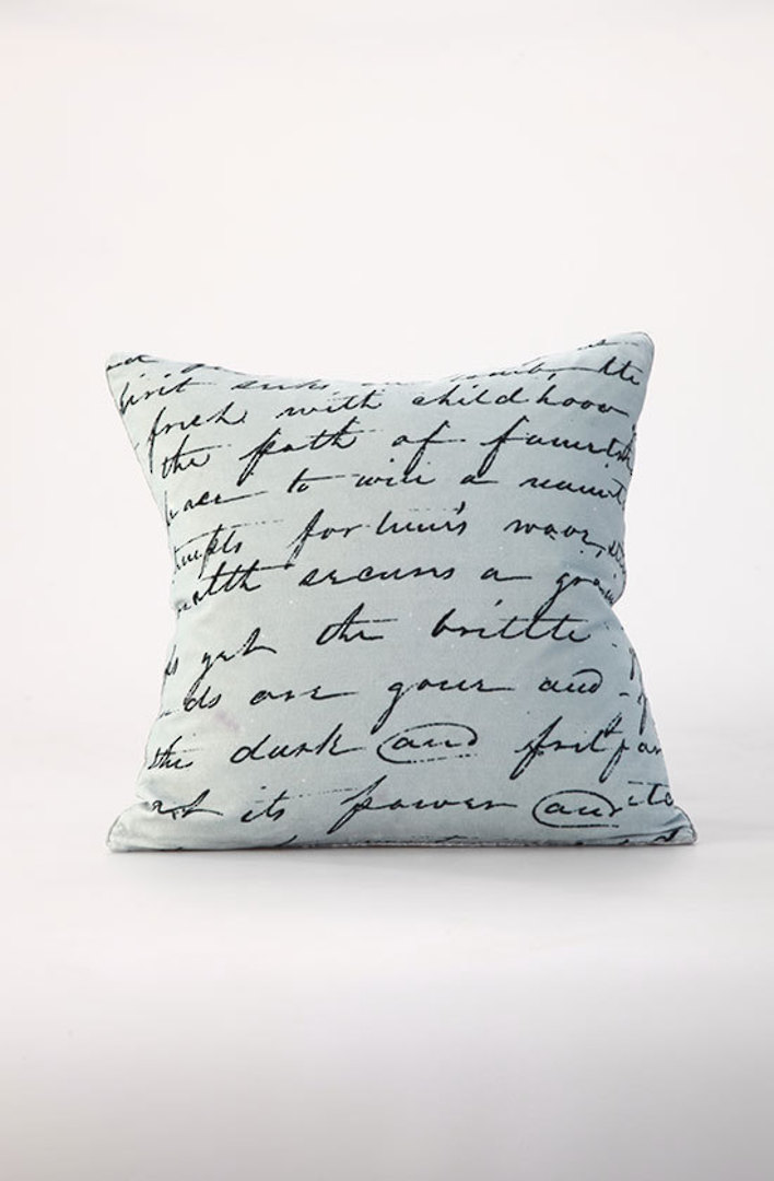 MM Linen - Love Poem Velvet Cushion image 0
