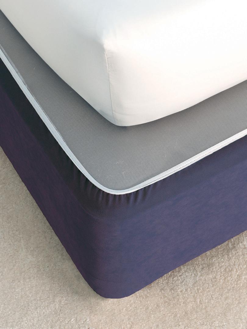 Linen House - Savona Plain Suede Bedwrap - Navy image 0