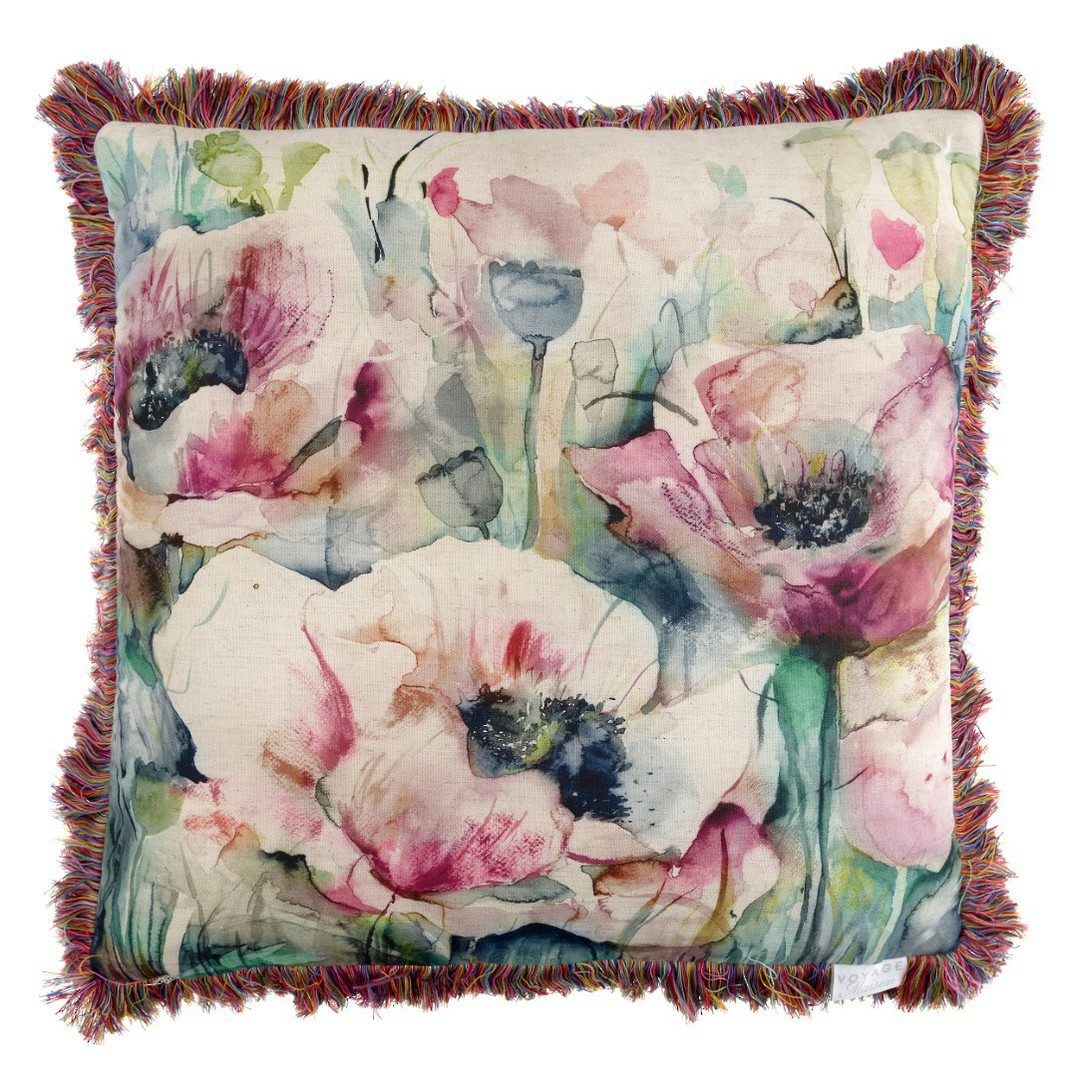 Voyage Maison - Country Blooms - Papavera Cushion - Mauve image 0