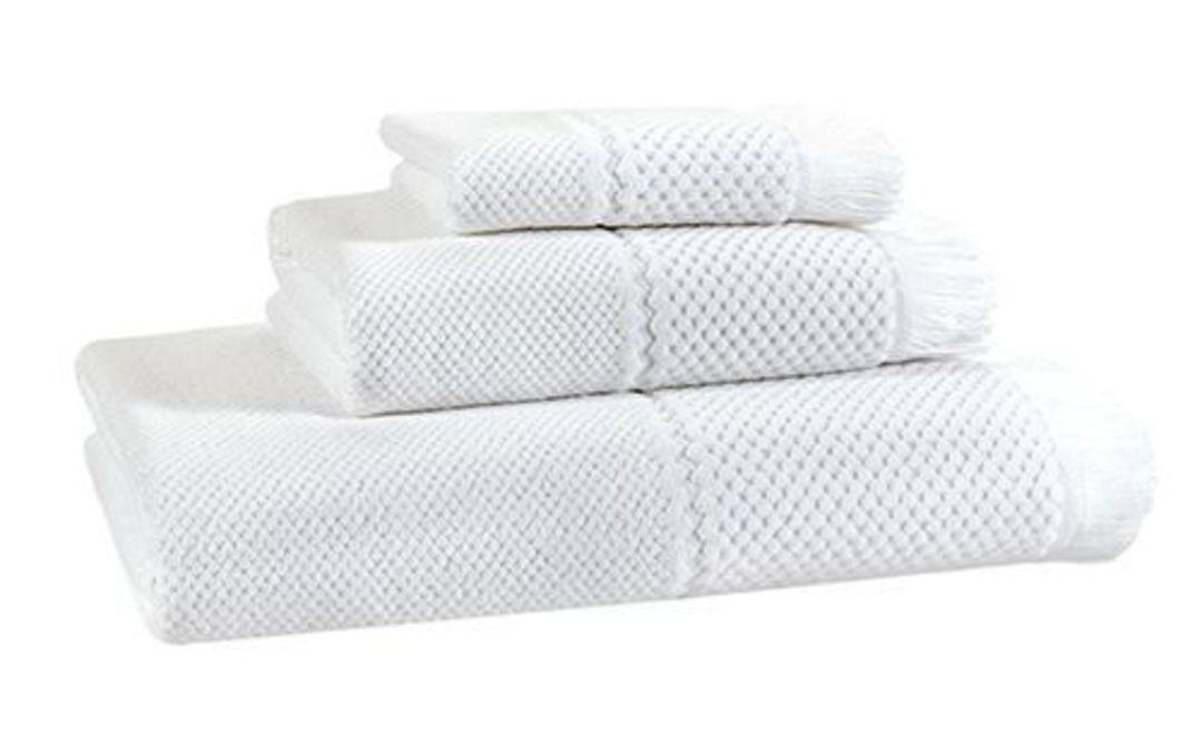 Importico - Devilla - Velour Jacquard White Towels image 0