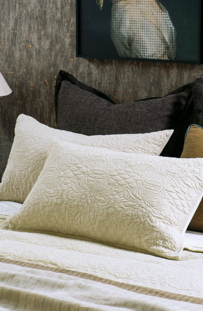 Bianca Lorenne - Fontanella - Bedspread - Pillowcase and Eurocase Sold Separately - Natural Linen image 1