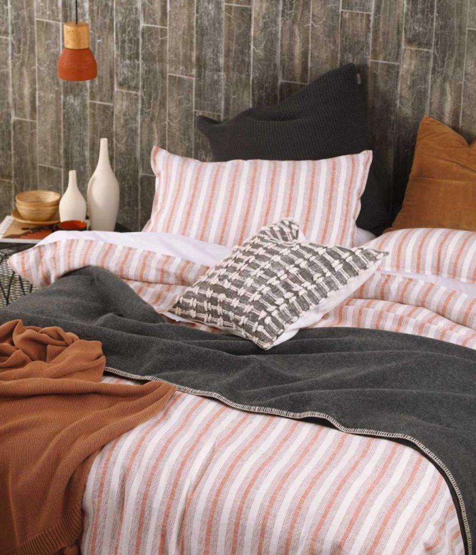 MM Linen - Finch Linen/Cotton Duvet Set - Umber image 0