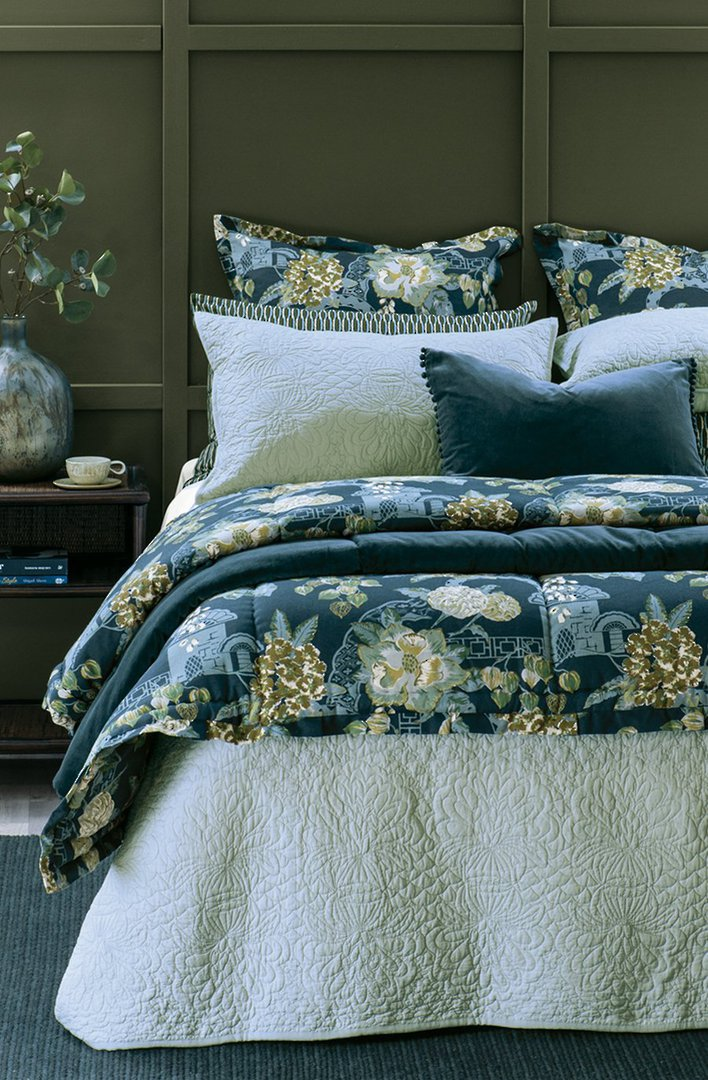 Bianca Lorenne - Fontanella - Bedspread - Pillowcase and Eurocase Sold Separately - Duck Egg image 0