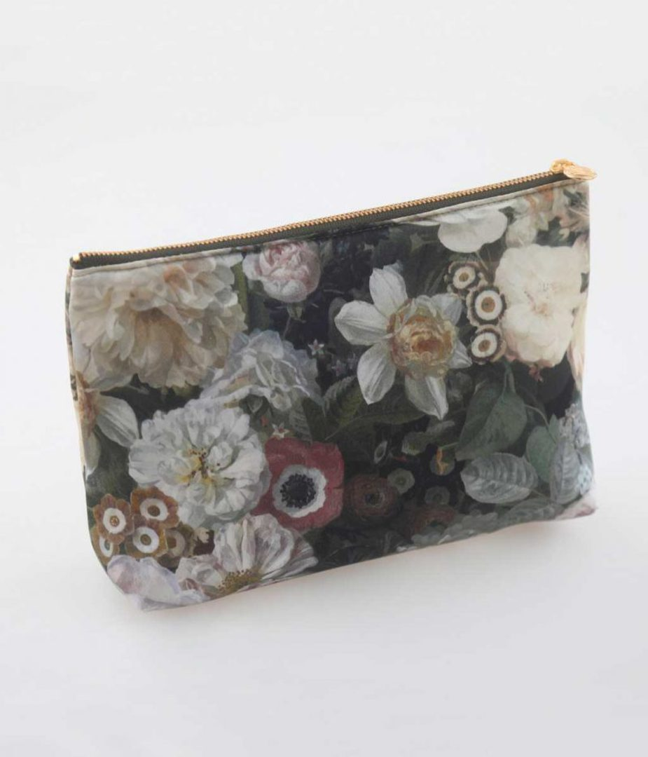 MM Linen - Floz - Silk Cosmetic Bag and Pouch Set image 2