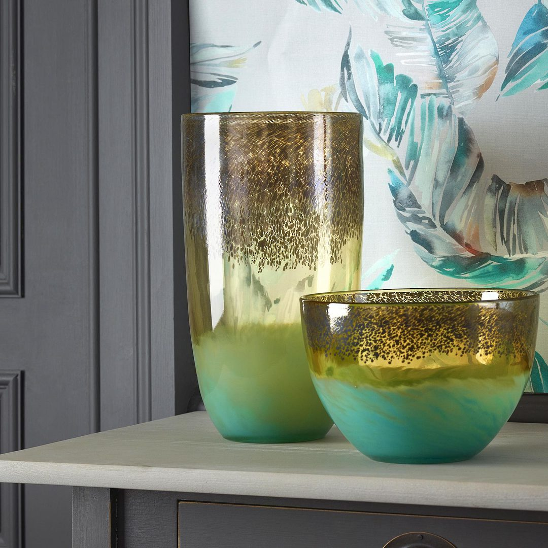 Importico - Voyage Maison Glass - Demeter Bowl - Gold image 1