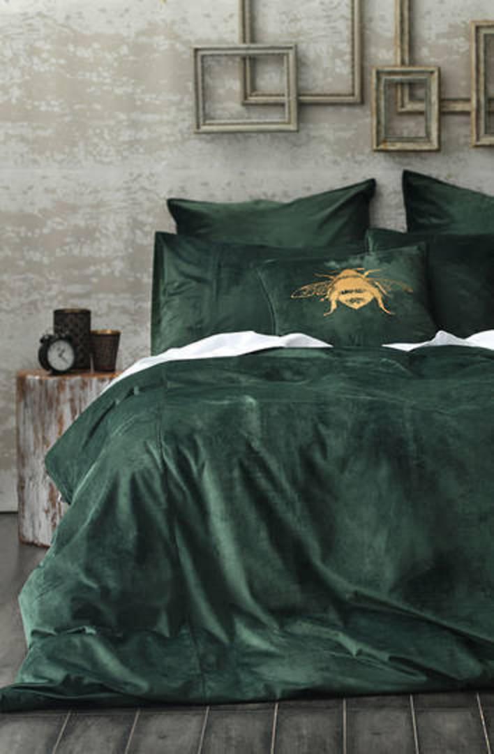 MM Linen - Velvet Duvet Cover Set- Forest image 0