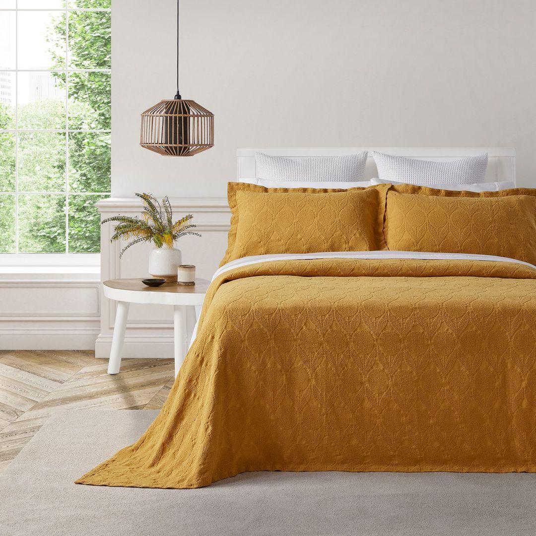 Baksana - Citron Bedspread Set - Saffron image 0