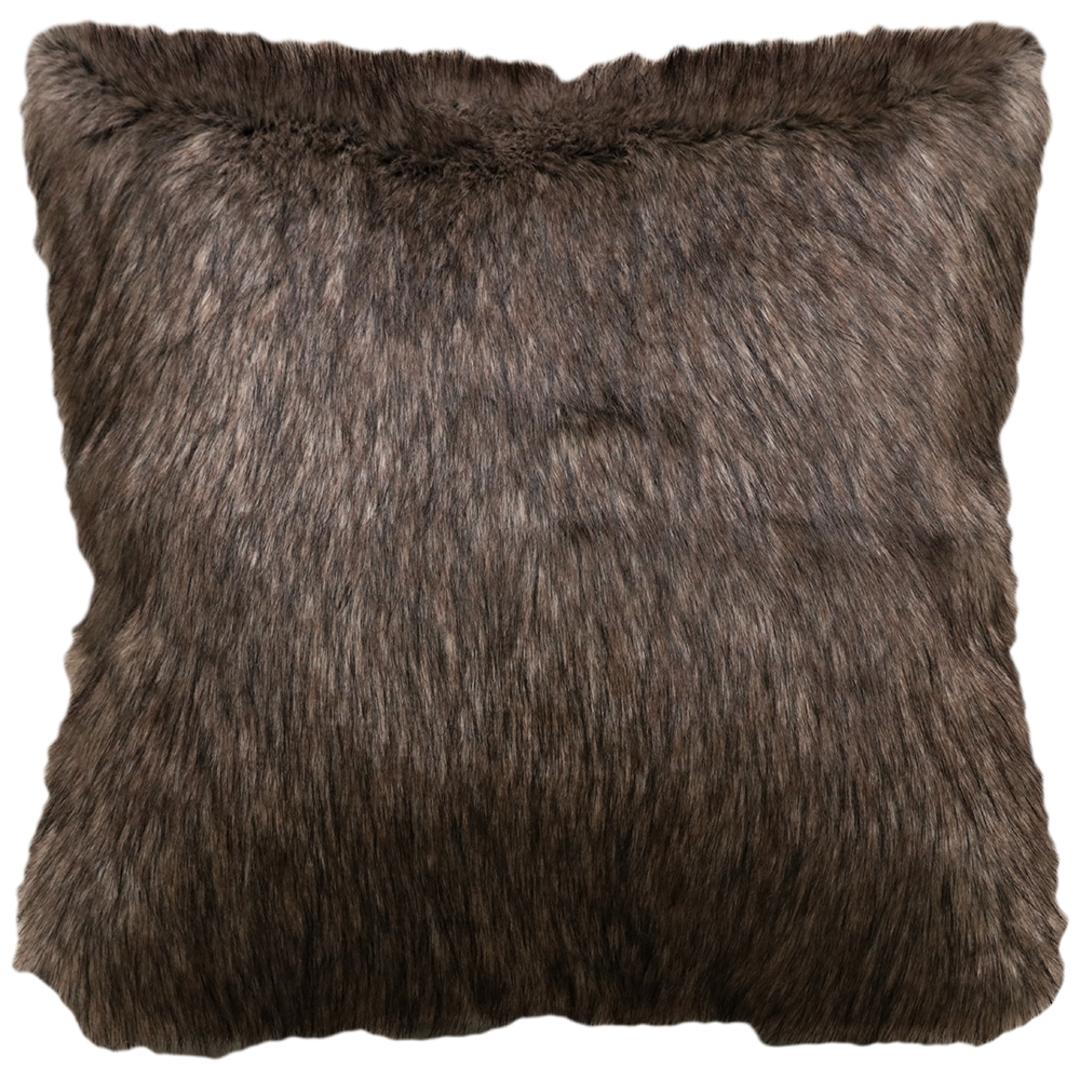 Heirloom Exotic Faux Fur Cushion / Throw -  Husky image 2