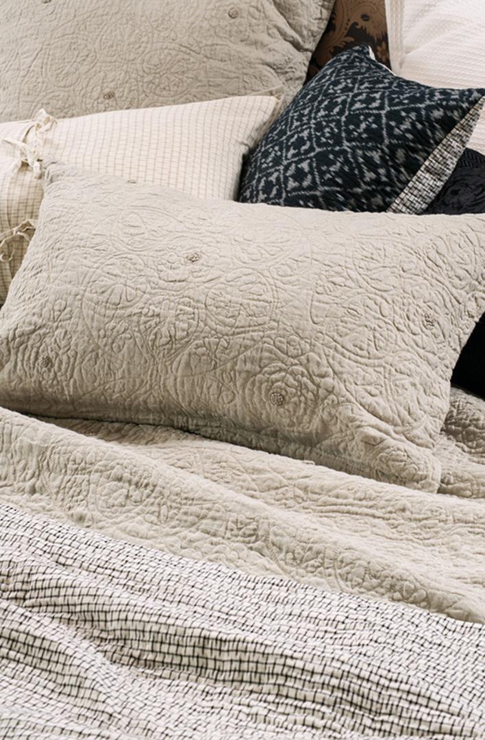 Bianca Lorenne - Amarento Duvet Cover / Pillowcase/Eurocase - Natural Linen image 1