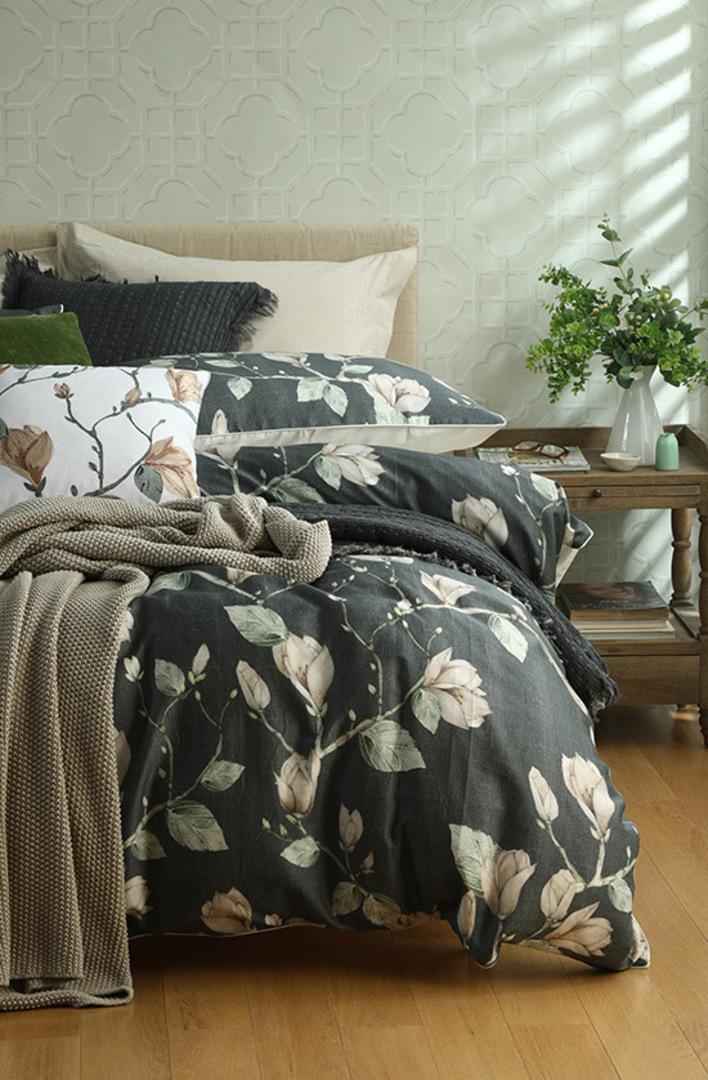 MM Linen -  Bronte Cotton Throw - Putty image 1