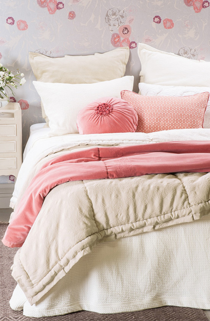 Bianca Lorenne - Valentina Ivory Bedspread / Pillowcase/Eurocase image 0