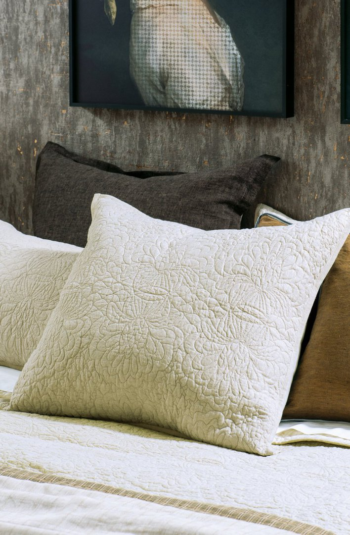Bianca Lorenne - Fontanella - Bedspread - Pillowcase and Eurocase Sold Separately - Natural Linen image 3