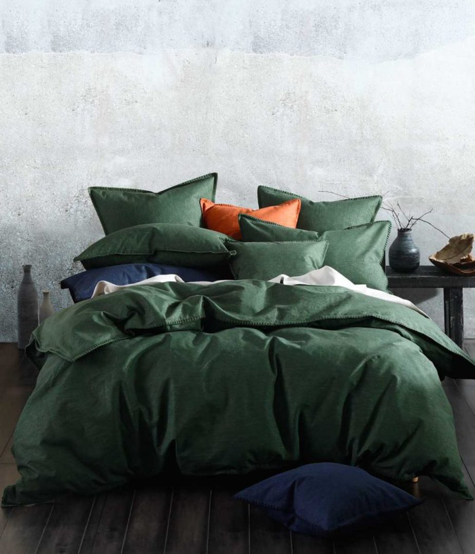 MM Linen - Stitch Duvet Set - Cypress image 0