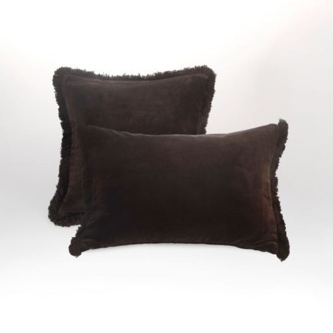 MM Linen - Sabel Cushions - Coffee image 2
