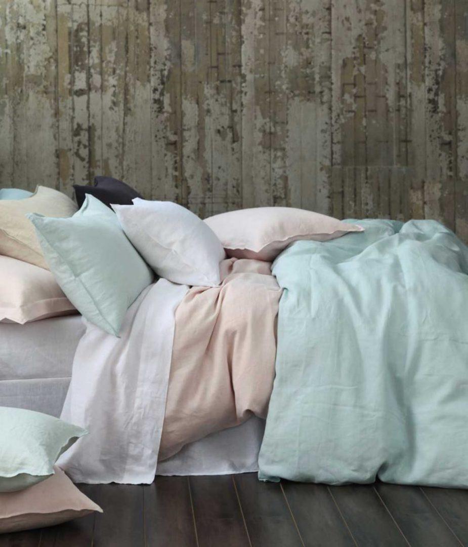 MM Linen - Laundered Linen Duvet Cover Set -  Natural image 1