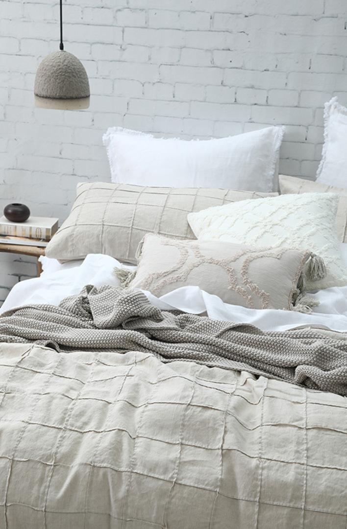 MM Linen -  Bronte Cotton Throw - Putty image 2
