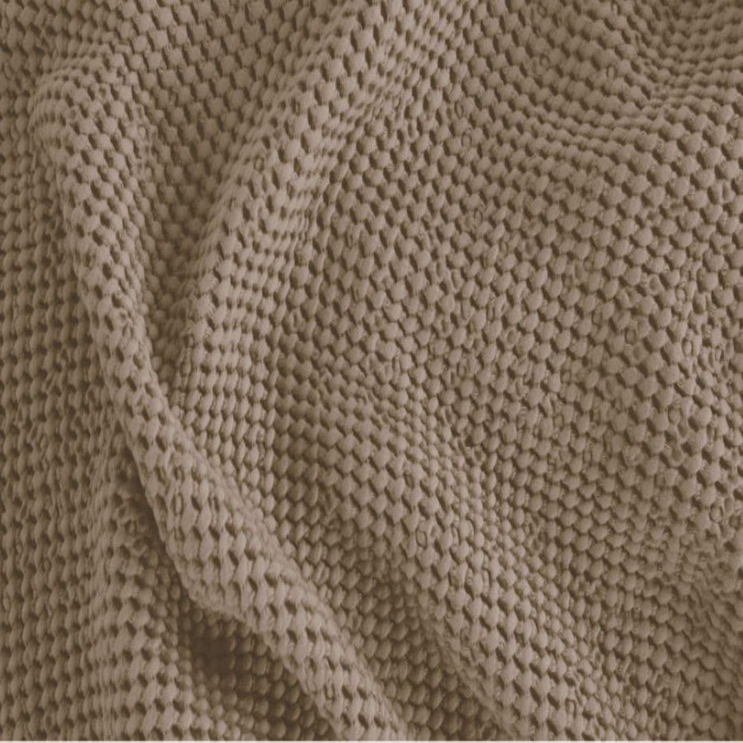 Baksana - New Bliss Stonewashed Throw/Blanket/ Eurocase/Cushion - Beige image 0