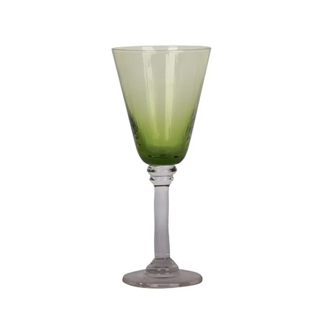 French Country - Talbot Wine Glass - Green image 0