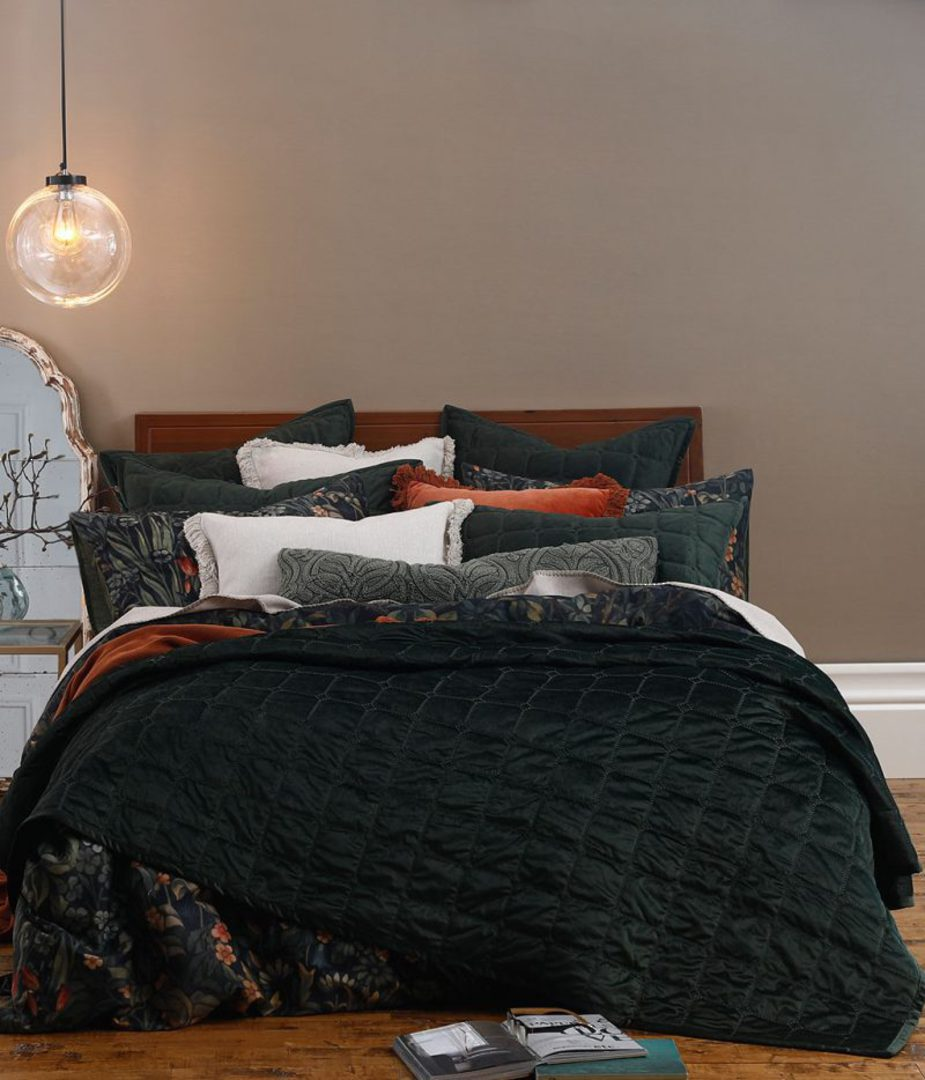 MM Linen - Meeka Sycamore Quilted Comforter Set / Eurocase Set image 0