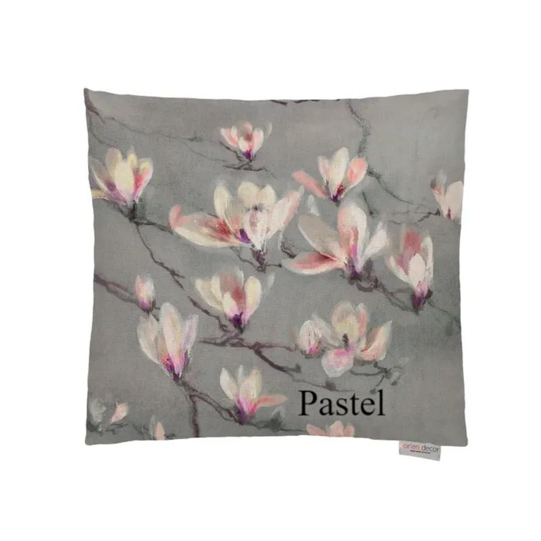 Voyage Maison - Magnolia Branch Cushion - Coral/Duckegg/Pastel image 2