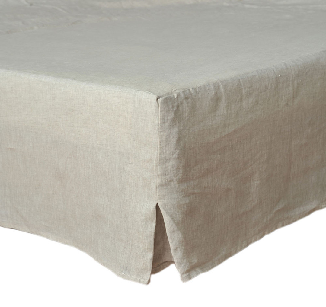 MM Linen - Laundered Linen - Bed Skirt/Valance - Natural image 0