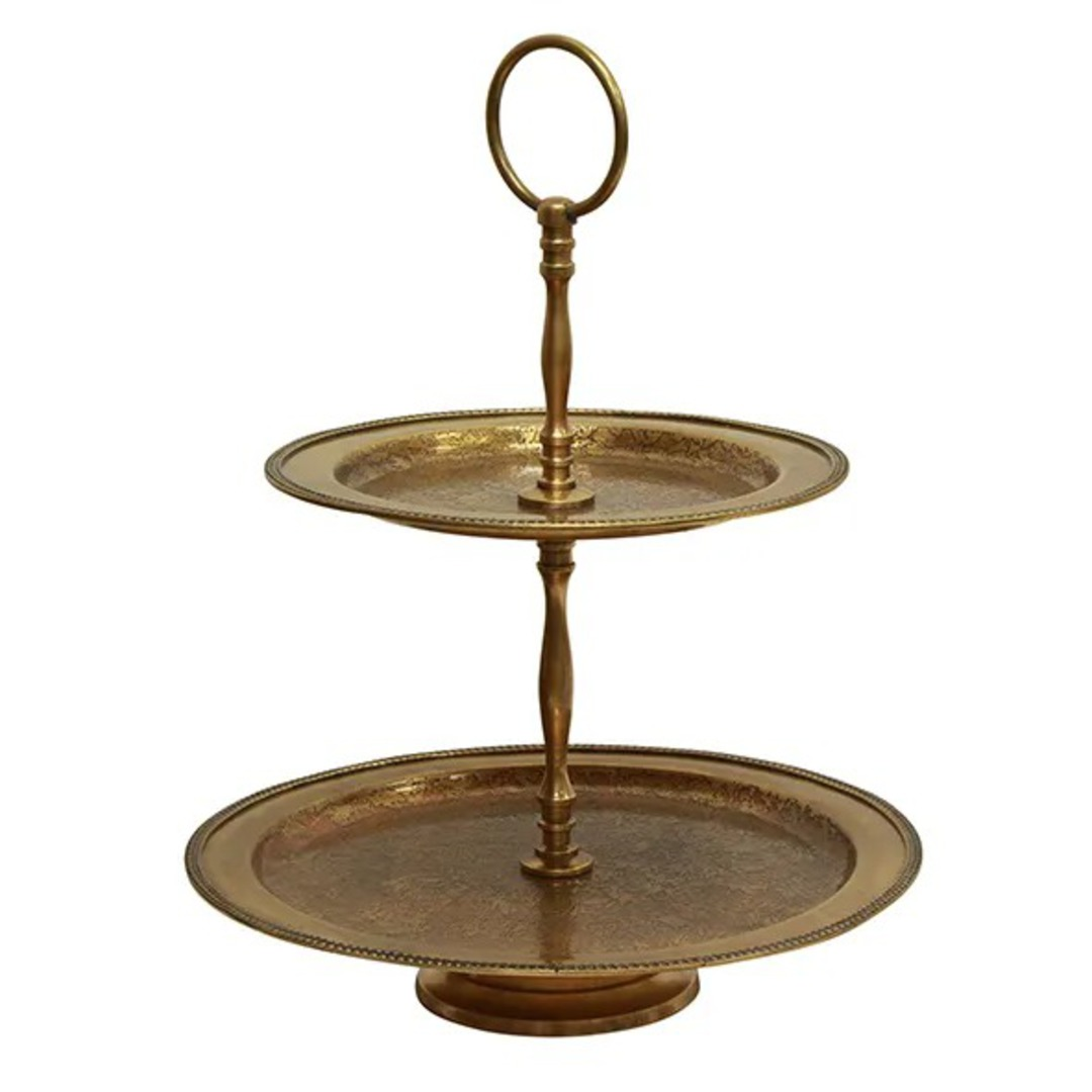 French Country - Carlo 2 Tier Cake Stand image 0