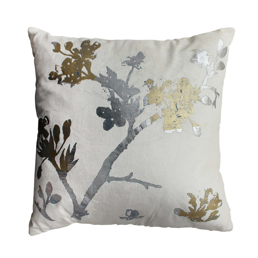 NZ Merchants -  Chinoise Blossom Cushion - Ivory image 0