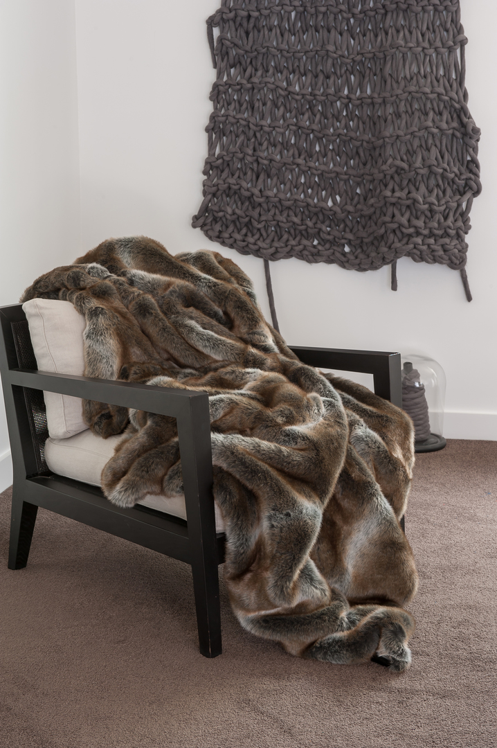 Heirloom Exotic Faux Fur Cushion / Throw - Striped Elk image 0