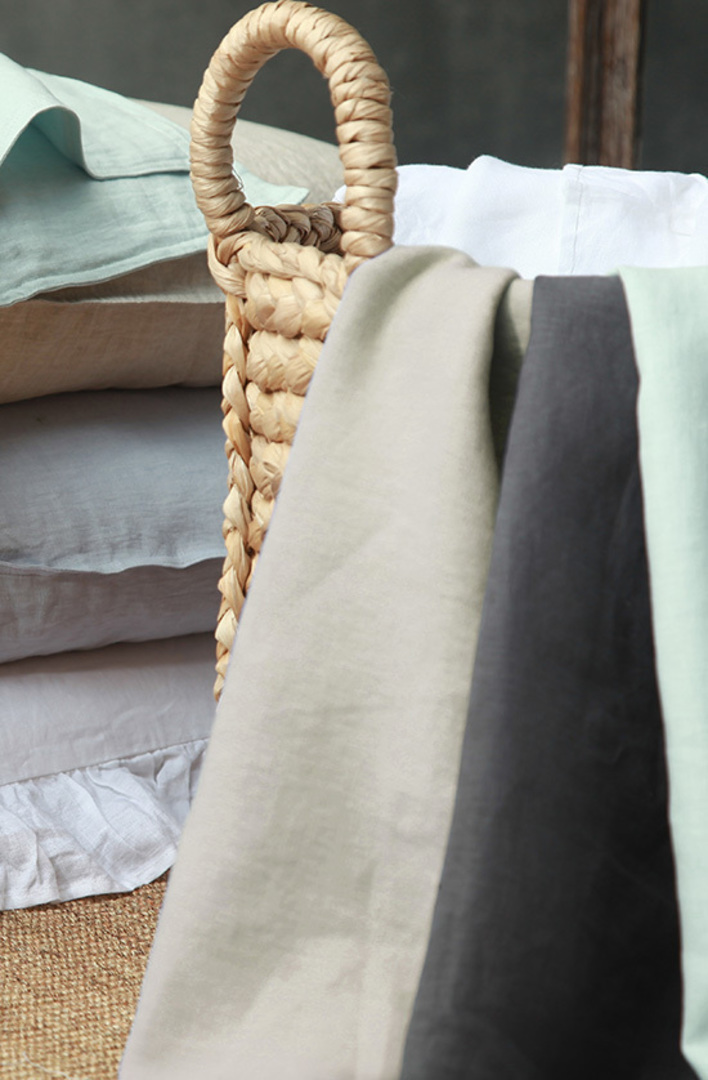 MM Linen - Laundered Linen Sheet Set - Charcoal image 2