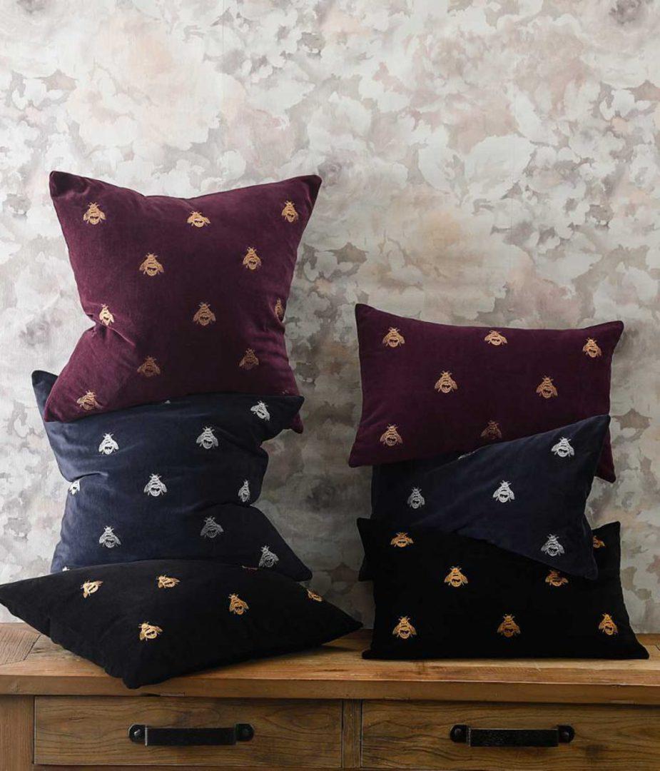 MM Linen - Buzz Cushion - Black image 2